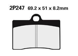 Plaquette de frein Nissin 2P247NS semi-metallique