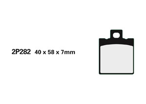 Plaquette de frein Nissin 2P282GS semi-metallique