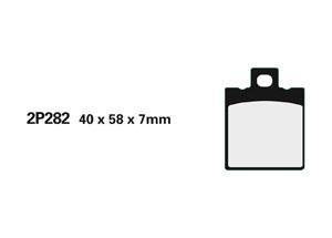 Plaquette de frein Nissin 2P282NS semi-metallique