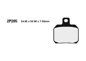 Plaquette de frein Nissin 2P285ST METAL FRITTE