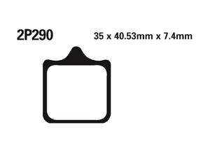 Plaquette de frein Nissin 2P290ST METAL FRITTE