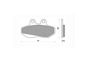 Plaquette de frein Newfren FD0162 BT organique