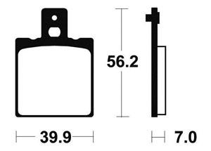 Plaquettes de frein TECNIUM MO19 Métal fritté