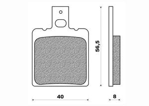 Plaquette de frein Newfren FD0263 BE organique
