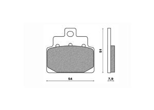 Plaquette de frein Newfren FD0271 BA organique Aprilia