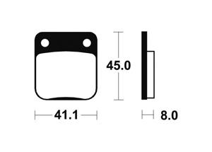 Plaquettes de frein Bendix MO36 Métal fritté
