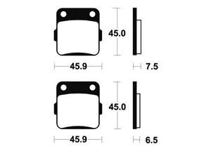 Plaquettes de frein Bendix MO62 Métal fritté