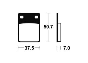 Plaquettes de frein TECNIUM MA106 Organique