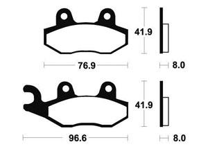 Plaquettes de frein Bendix MO111 Métal fritté
