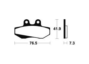 Plaquettes de frein TECNIUM MA152 Organique