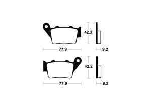 Plaquettes de frein TECNIUM MO175 Métal fritté
