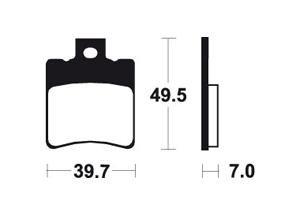 Plaquettes de frein TECNIUM MA225 Organique