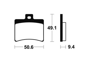 Plaquettes de frein TECNIUM MSS247 métal fritté.