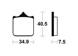 Plaquettes de frein TECNIUM MF262 Métal fritté