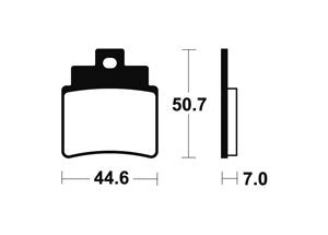 Plaquettes de frein TECNIUM MO275 Métal fritté