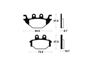 Plaquettes de frein TECNIUM MO310 Métal fritté