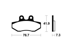Plaquettes de frein TECNIUM MA317 Organique