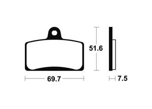 Plaquettes de frein TECNIUM MF321 Métal fritté