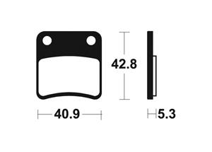 Plaquettes de frein TECNIUM MA379 Organique