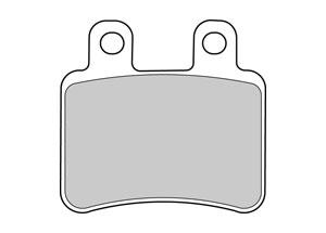 Organique Plaquettes de frein Etrier AJP