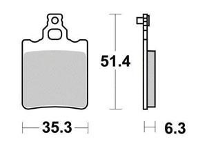 Plaquette de frein Organique Argento Scooter