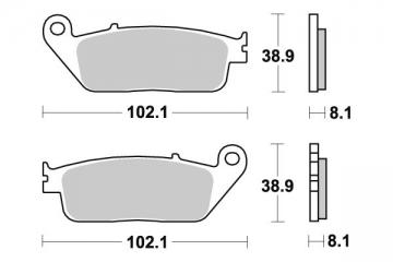 Plaquette de frein Sifam Métal Fritté haute performance norme KBA/ABE