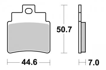 Plaquette de frein Kyoto Semi-Métal - SYM GTS PRENDRE 2 BOITES