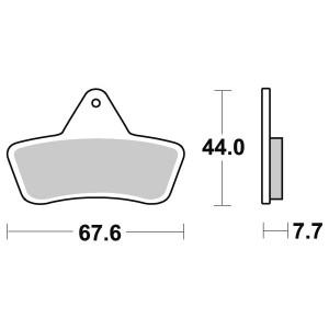 Plaquettes de frein Quads Massey-Ferguson MF 400 Auto 4x4 Avant Gauche de 2004 à
